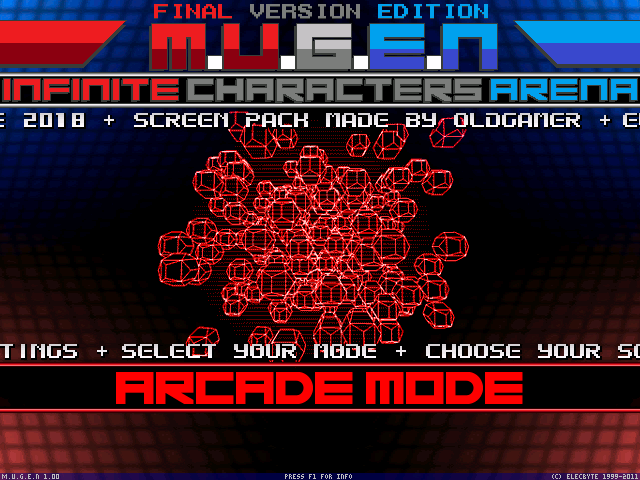MUGEN Infinite Character Arena Final Version Edition 1.0 & 1.1 640x480 Mugen000_1_orig